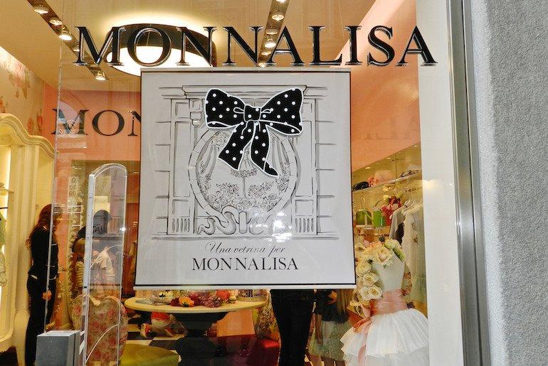 una vetrina per Monnalisa