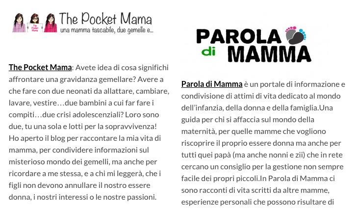 The Pocket Mama nel network Fattore Famiglia