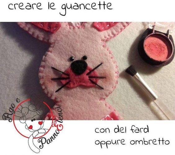coniglietto pasquale guance rosate