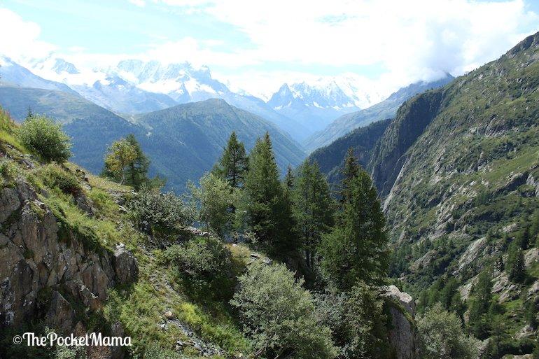 massiccio del Monte Bianco dal lago di Emosson