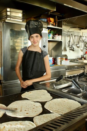 cottura della piadina romagnola