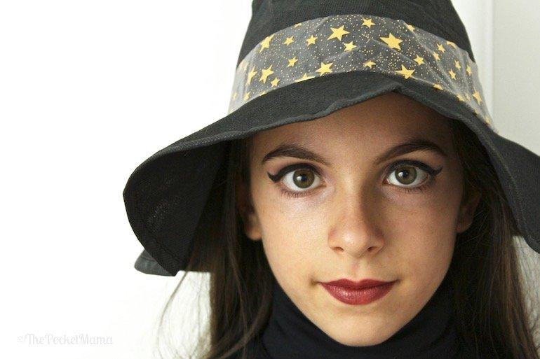 make-up Halloween - strega bambina