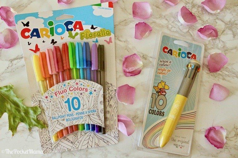 penna dieci colori e penne fluo colors Carioca