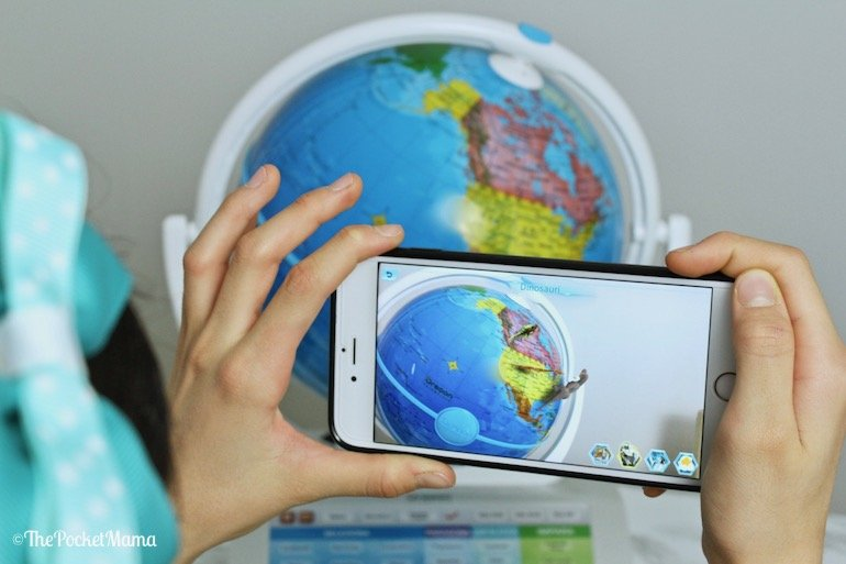 realtà aumentata dinosauri Smart Globe Explorer AR