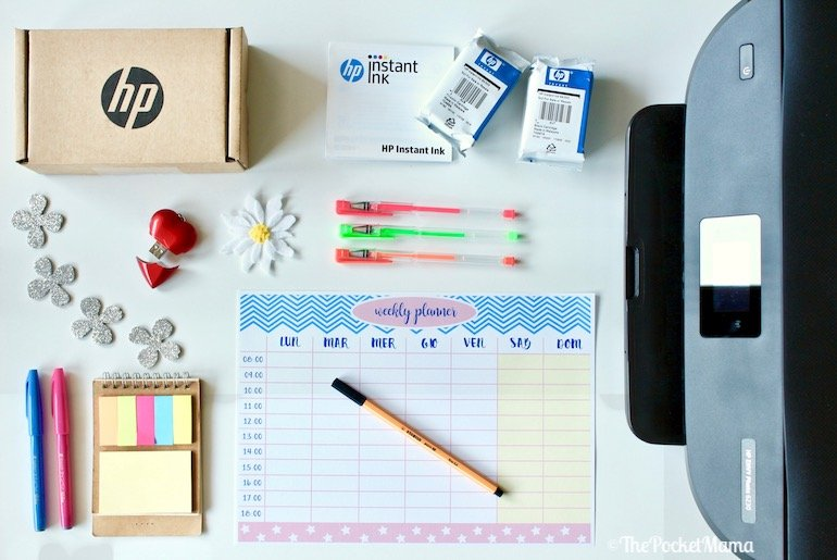 Planner settimanale da stampare the pocket mama - Agenda da tavolo settimanale ...