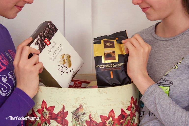 biscotti e praline cesto natalizio METRO