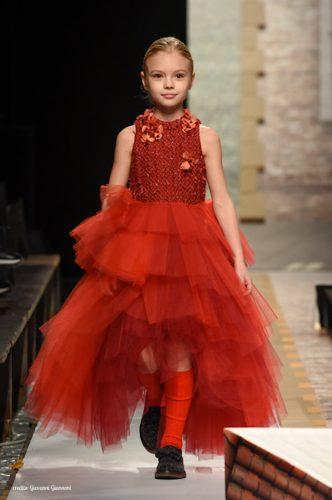 vestito rosso tulle Le Mu AI 2019-2020