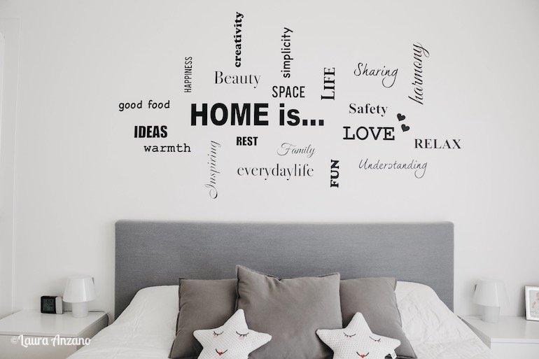 sticker murali camera da letto evenrgreen orange