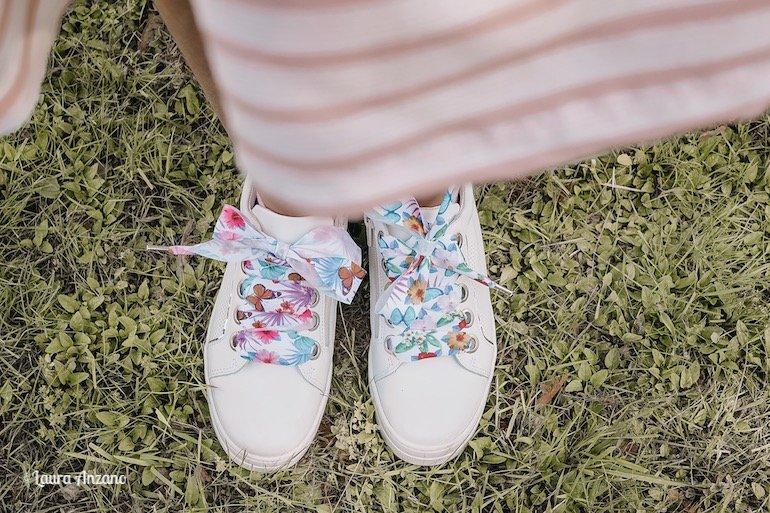 sneakers Melania con stringhe a nastro