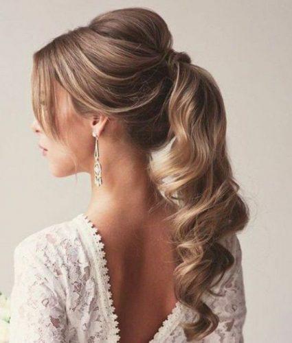 coda di cavallo capelli ricci