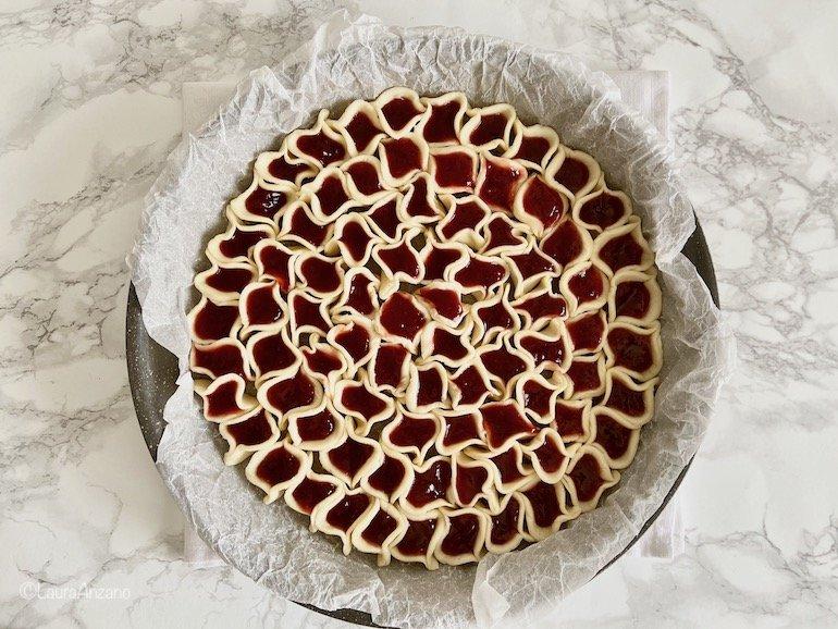 preparazione torta a ciliegie