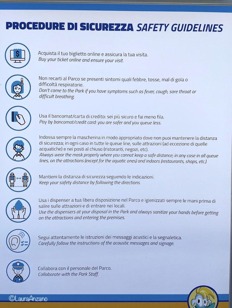 regole per la sicurezza a Mirabilandia