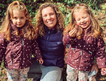 mamma con gemelle eterozigote di 3 anni
